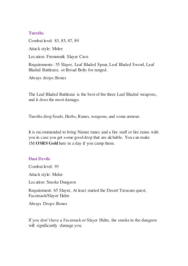 OSRS Gold Guide: Slayer Money Making Guide