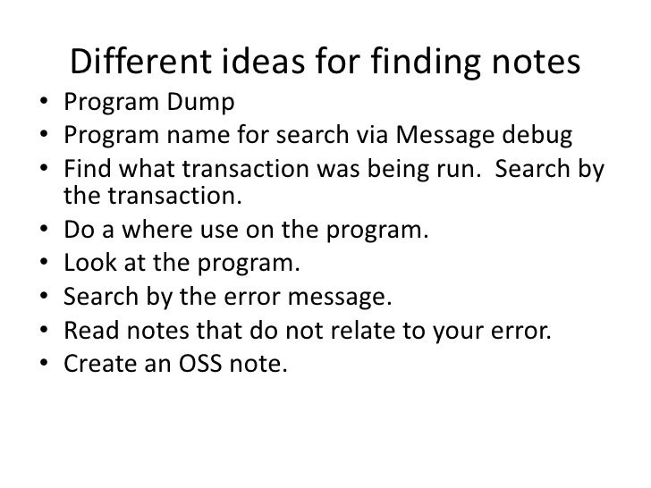 how to find oss notes in sap