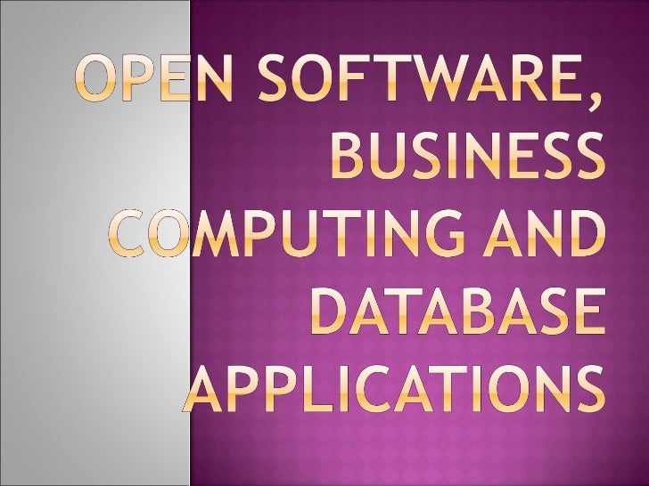 which refers to the software whose source code is available to customers and it can be modified and redistributed without ...
