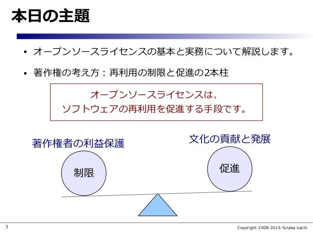 (旧版) オープンソースライセンスの基礎と実務 Slide 3