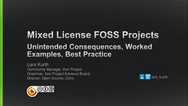 OSSA17 - Mixed License FOSS Projects