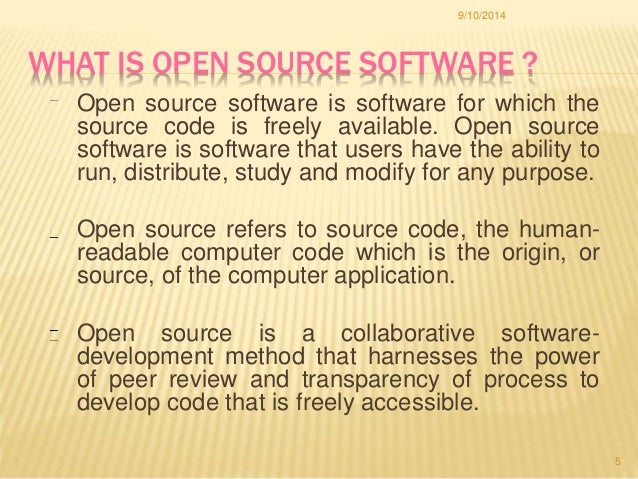 a study on open source software The open source survey is an open data project by github and collaborators from academia, industry, and the broader open source community overview in collaboration with researchers from academia, industry, and the community, github designed a survey to gather high quality and novel data on open source software development practices and.