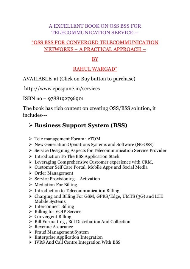 Fundamentals Of Ems Nms And Oss/bss Ebook