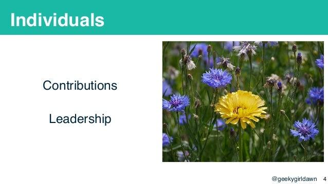 @geekygirldawn Individuals Contributions Leadership !4