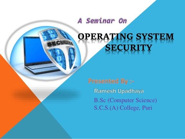 B.Sc (Computer Science) S.C.S.(A) College, Puri