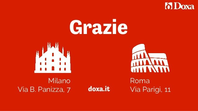 Milano Via B. Panizza, 7 Roma Via Parigi, 11doxa.it Grazie