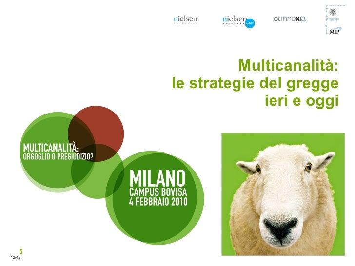 Multicanalità:         le strategie del gregge                       ieri e oggi         5 12/42