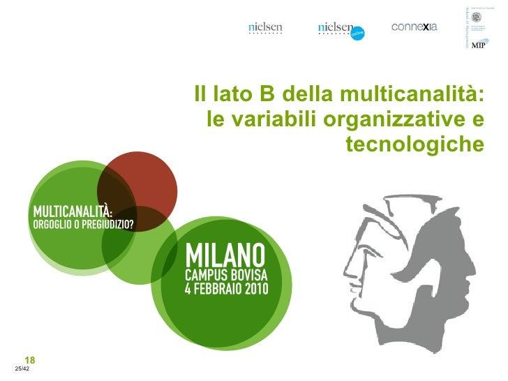 Il lato B della multicanalità:           le variabili organizzative e                          tecnologiche        18 25/42