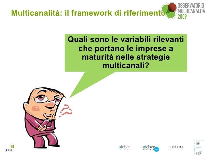 Multicanalità: il framework di riferimento                      Quali sono le variabili rilevanti                      che...