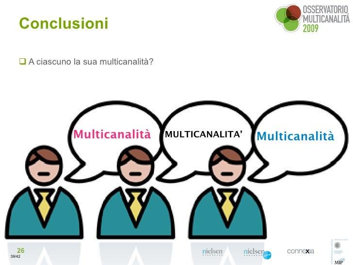 Conclusioni       A ciascuno la sua multicanalità?                      Multicanalità           MULTICANALITA'   Multican...