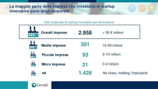 La maggior parte delle imprese che investono in startup innovative sono large corporate Soci corporate di startup innovati...