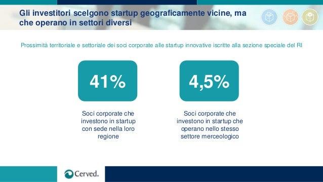 Gli investitori scelgono startup geograficamente vicine, ma che operano in settori diversi 4,5% Soci corporate che investo...