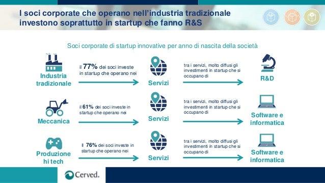 I soci corporate che operano nell'industria tradizionale investono soprattutto in startup che fanno R&S Soci corporate di ...