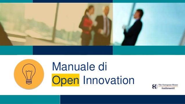 Manuale di Open Innovation