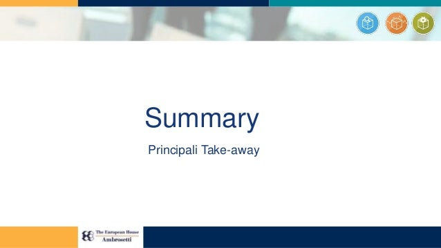 Summary Principali Take-away