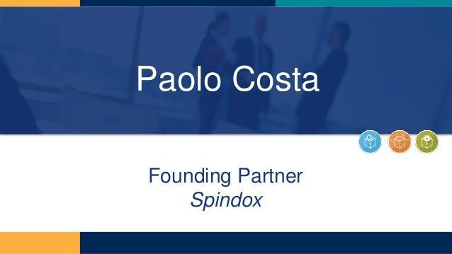 Paolo Costa Founding Partner Spindox
