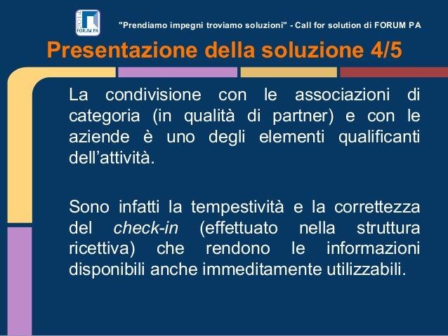 """""""Prendiamo impegni troviamo soluzioni"""" - Call for solution di FORUM PA La condivisione con le associazioni di categoria (i..."""