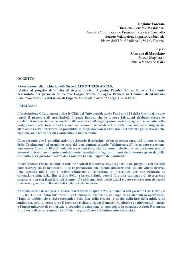Regione Toscana                                                                       Direzione Generale Presidenza,      ...