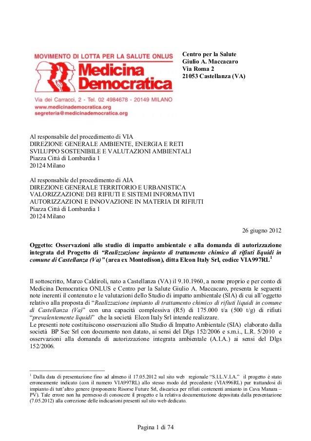 Centro per la Salute                                                                        Giulio A. Maccacaro           ...