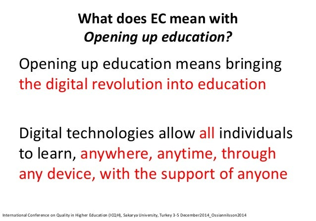 50 shades of openness © Copyright Public domainCreativeCommons International Conference on Quality in Higher Education (IC...