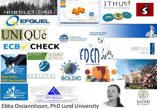 Ossiannilsson icqh2014 sakarya university_turkey Slide 2
