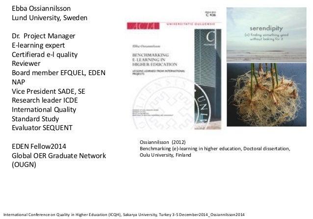 Ossiannilsson icqh2014 sakarya university_turkey Slide 3
