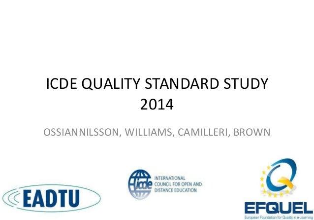 International Conference on Quality in Higher Education (ICQH), Sakarya University, Turkey 3-5 December2014_Ossiannilsson2...
