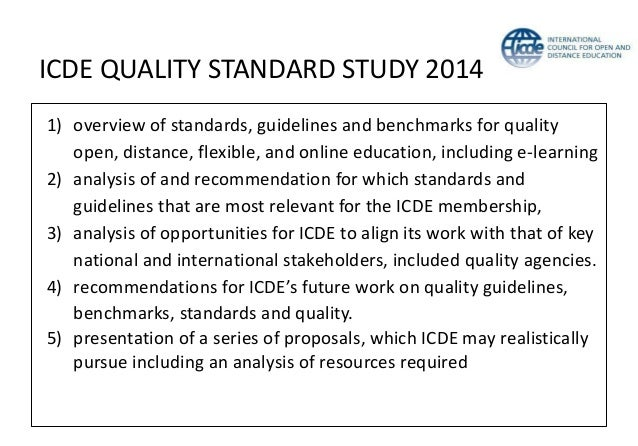 Quality framework for MOOCs in Europe • Openness to learners • Digital openness • Learner-centred approach • Independent l...
