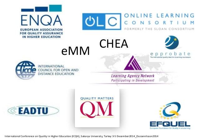 Certification For Institutions unique.efquel.org For Program and Courses ecb-check.efquel.org Evaluation tool sevaq.efquel...