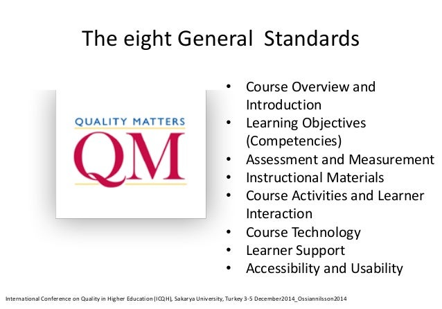 Best guarantees of quality in e-learning Well-qualified subject experts that are also well trained in both teaching method...
