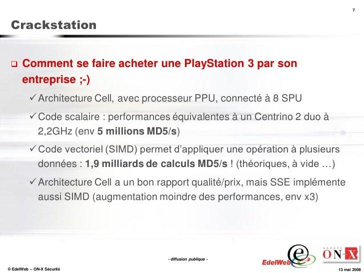 7     Crackstation        Comment se faire acheter une PlayStation 3 par son       entreprise ;-)            Architectur...