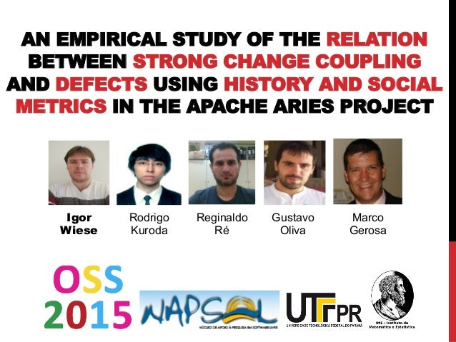 AN EMPIRICAL STUDY OF THE RELATION BETWEEN STRONG CHANGE COUPLING AND DEFECTS USING HISTORY AND SOCIAL METRICS IN THE APAC...
