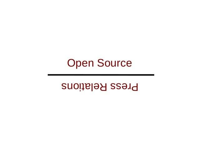 Press Relations Open Source