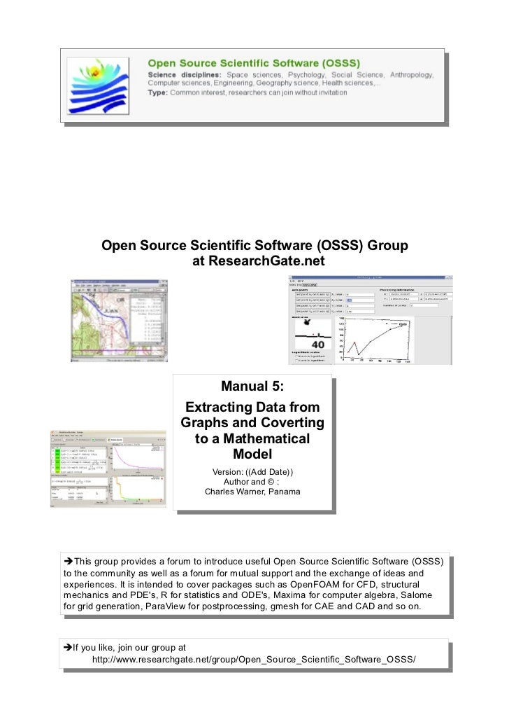 Open Source Scientific Software (OSSS) Group                    at ResearchGate.net                                   Manu...