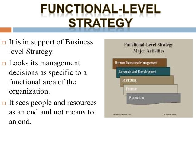 fedex corporate business and functional level Organizational plan for human resources, marketing, research and development and other functional areas the functional strategy of a company is customized to a specific industry and is used to back up other corporate and business strategies.