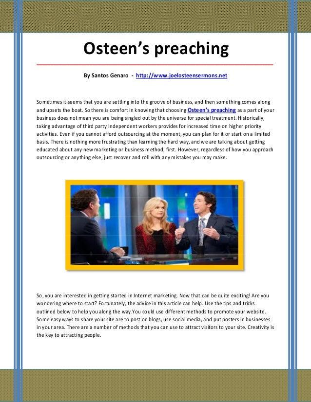Osteen's preaching_____________________________________________________________________________________                   ...