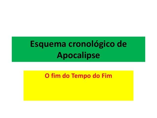Esquema cronológico de Apocalipse O fim do Tempo do Fim