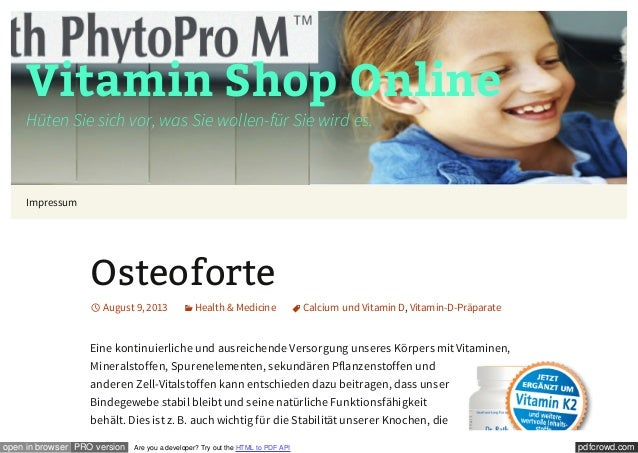 pdfcrowd.comopen in browser PRO version Are you a developer? Try out the HTML to PDF API Vitamin Shop Online Hüten Sie sic...