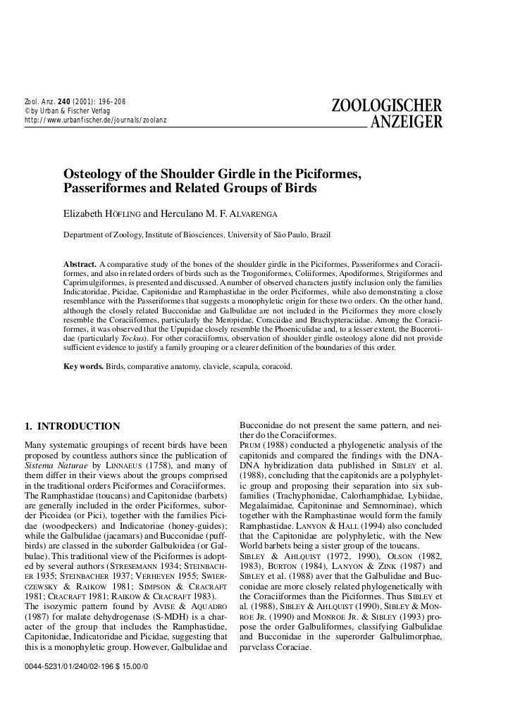 Zool. Anz. 240 (2001): 196–208© by Urban & Fischer Verlaghttp://www.urbanfischer.de/journals/zoolanz           Osteology o...