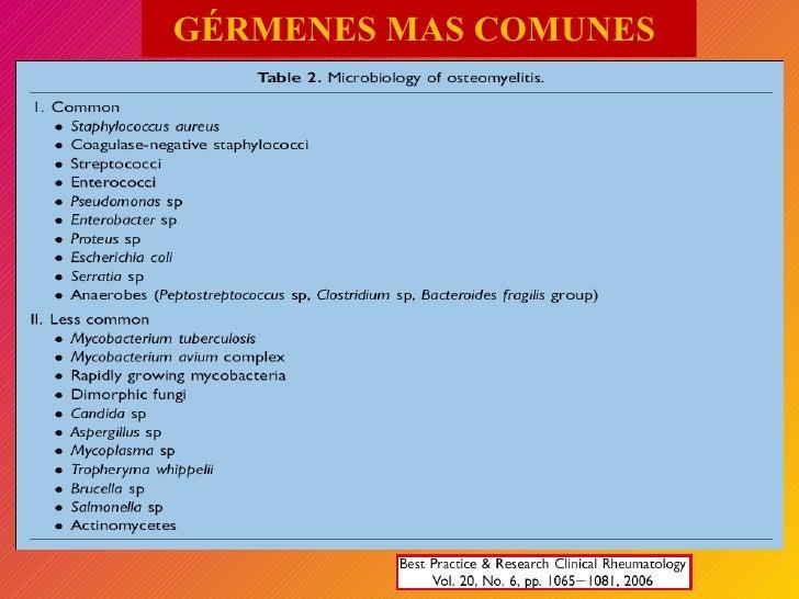 GÉRMENES MAS COMUNES