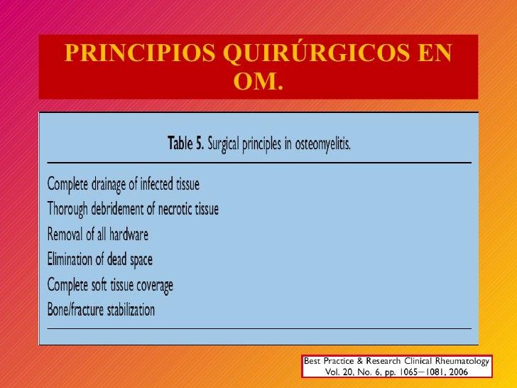PRINCIPIOS QUIRÚRGICOS EN OM.