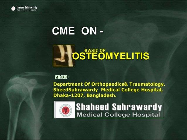 CME ON -         OSTEOMYELITISFrom -