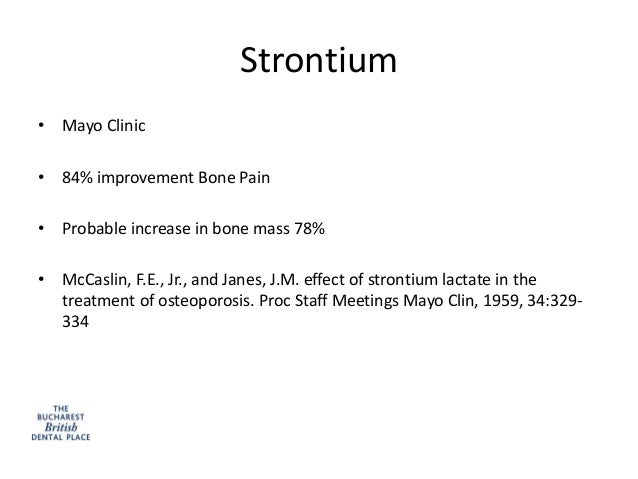 27+ Strontium for osteoporosis mayo clinic information