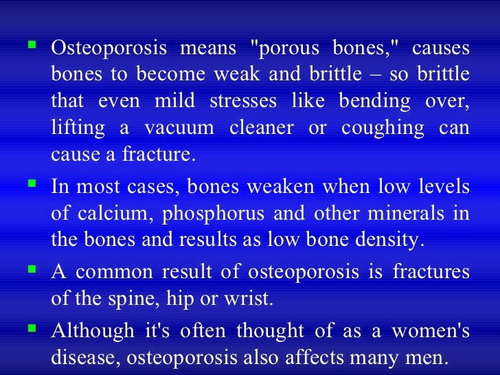 osteoporosis scenario investigation marissa