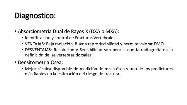 • Exámenes de Laboratorio: • Dosaje Sérico de Calcio, Fosforo y Fosfatasa Alcalina. • Proteinograma. • Hemograma, Perfil H...