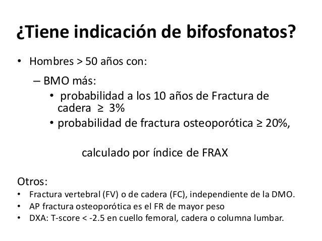 Determina 3 niveles de riesgo de fractura a 10 años: • Bajo: menos de 10% de riesgo de fractura osteoporótica mayor. • Med...