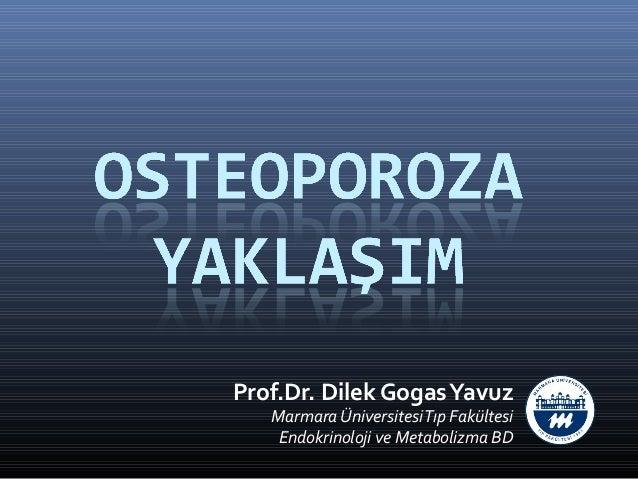 Prof.Dr. Dilek Gogas Yavuz   Marmara Üniversitesi Tıp Fakültesi    Endokrinoloji ve Metabolizma BD