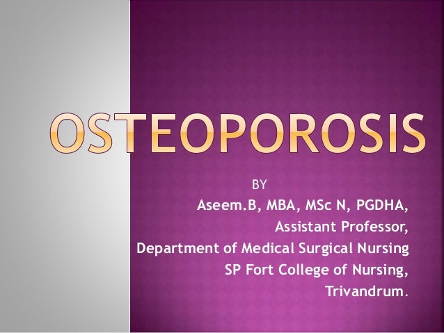 10+ Nursing management of osteoporosis ppt ideas in 2021