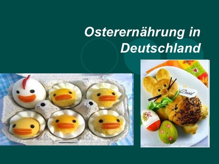 Osterernährung in     Deutschland