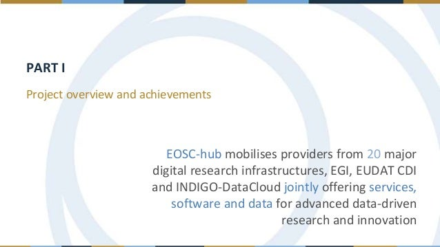 EOSC-hub contribution to the EOSC implementation, the Hub concept and engagement with stakeholders Slide 3